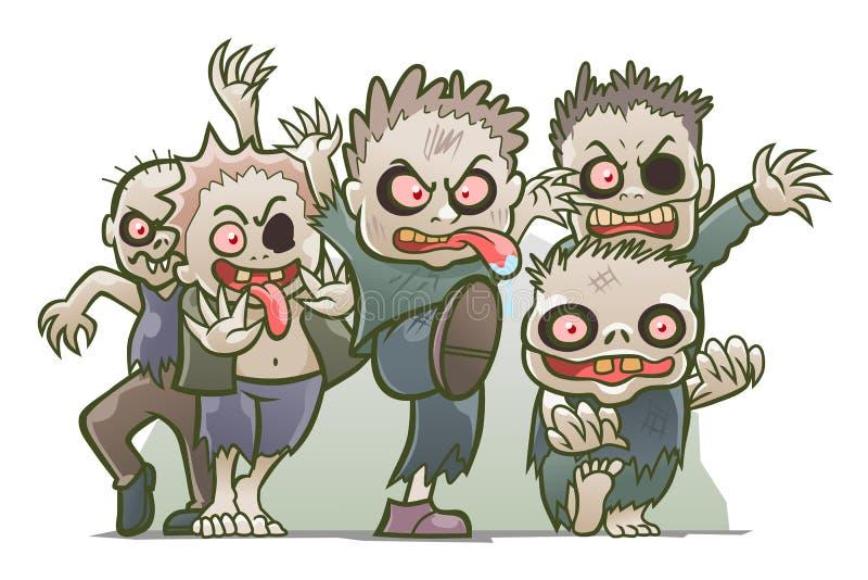 Zombie svegli royalty illustrazione gratis