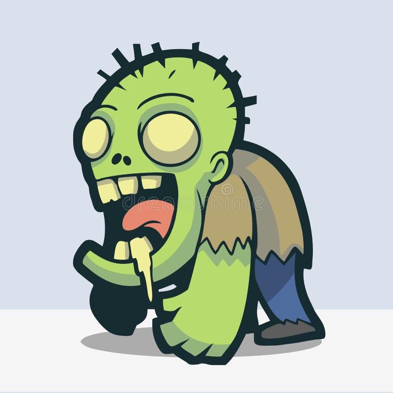 Zombie sveglio illustrazione di stock