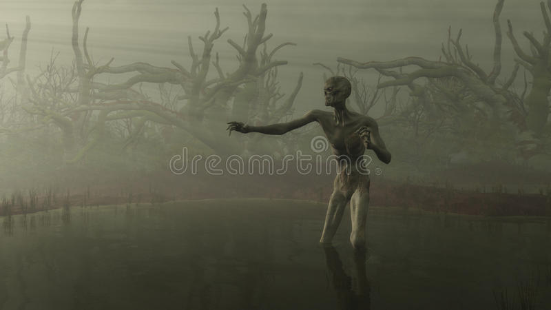 Download Zombie in the Swamp stock illustration. Image of undead - 18895248