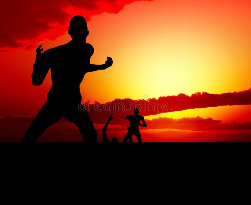 Zombie-Szene Lizenzfreies Stockbild