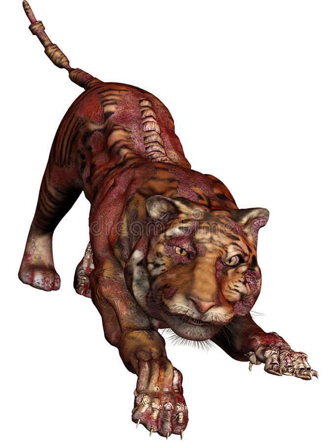 Download Zombie tiger stock illustration. Image of zombie, fantasy - 27721023