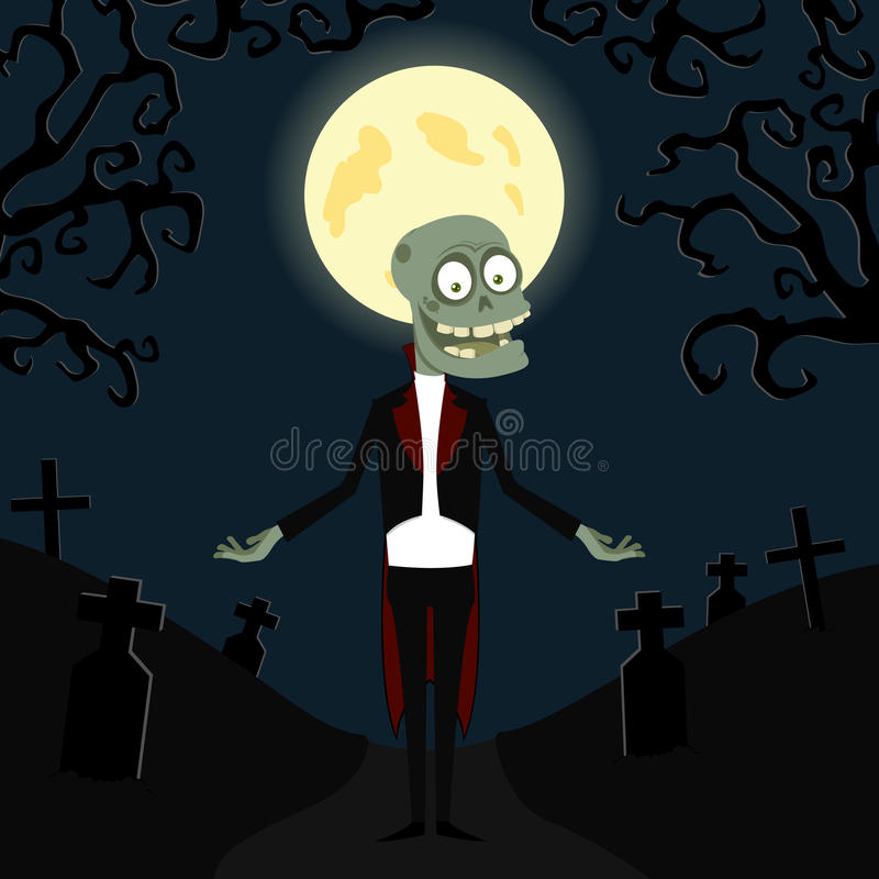 Download The zombie in a tuxedo stock vector. Image of evil, black - 16006370