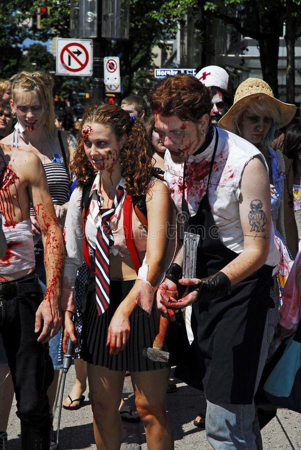 Download Zombie Walk - Vancouver 2008 Editorial Photography - Image: 6130252