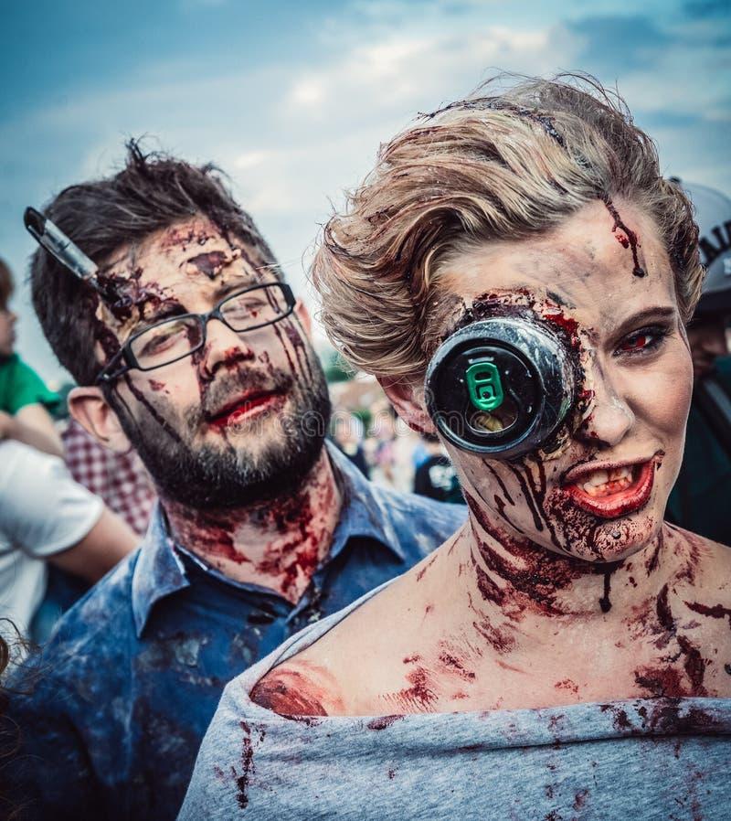 Zombie Walk in Warsaw stock image