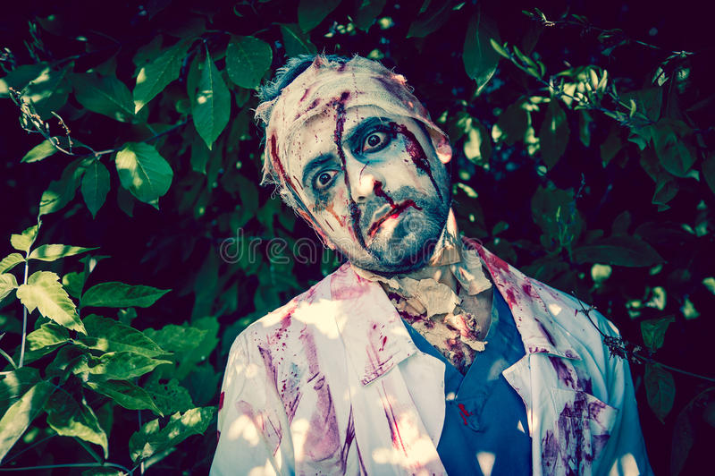 Zombie Walking Stock Photo