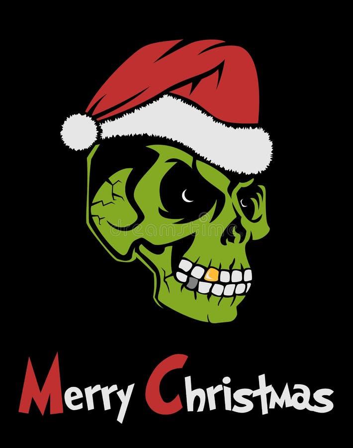 Zombie Weihnachtsmann stock abbildung