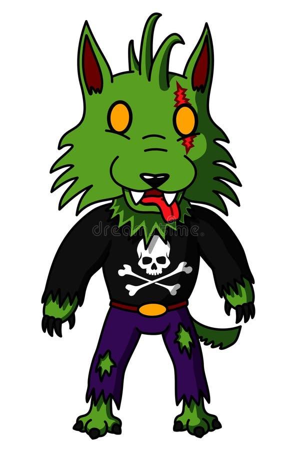 Zombie-Werwolf lizenzfreie abbildung