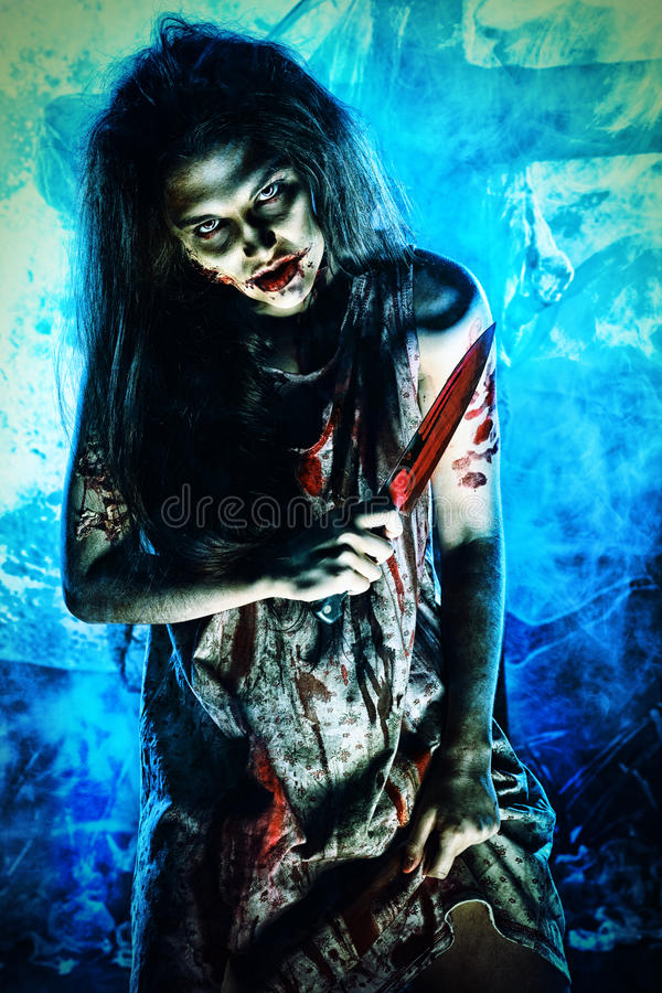 Download Zombie woman stock image. Image of cruel, furious, dead - 28085211