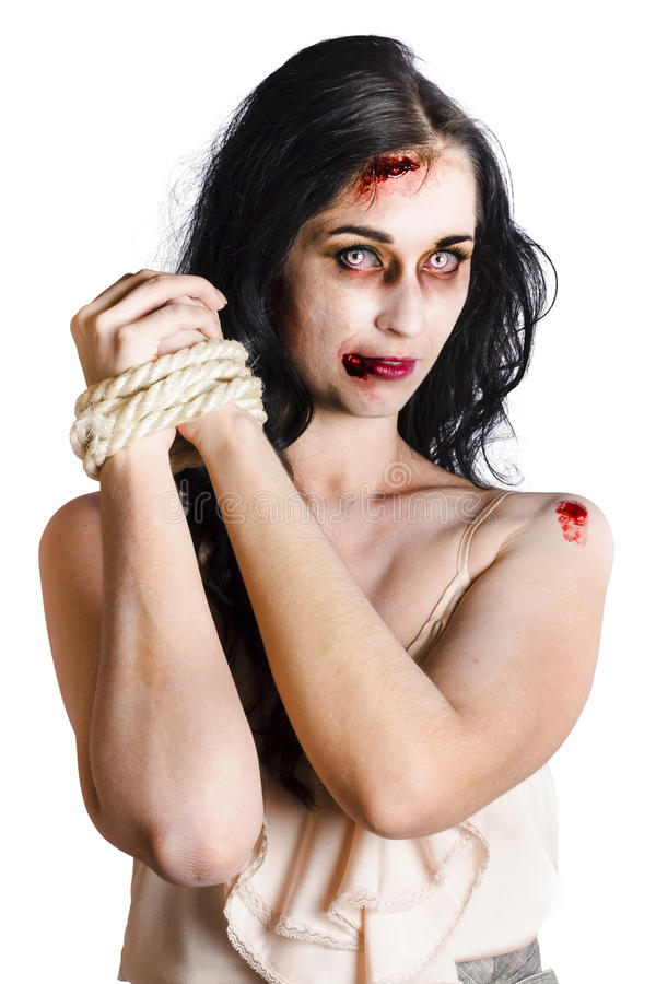 Zombie tied up