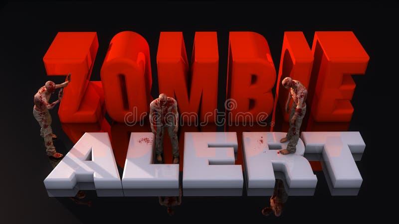 Zombiealarm en zombieën stock afbeelding