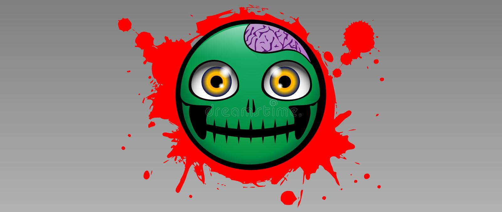 Zombieemotie stock illustratie