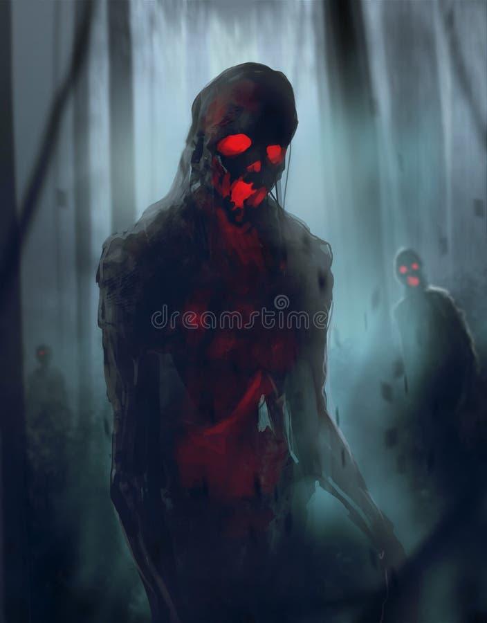 Zombiegehen stock abbildung
