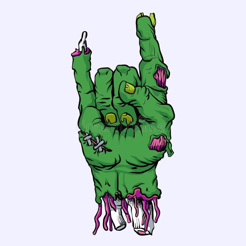 Zombiehand-cartoon vektor abbildung