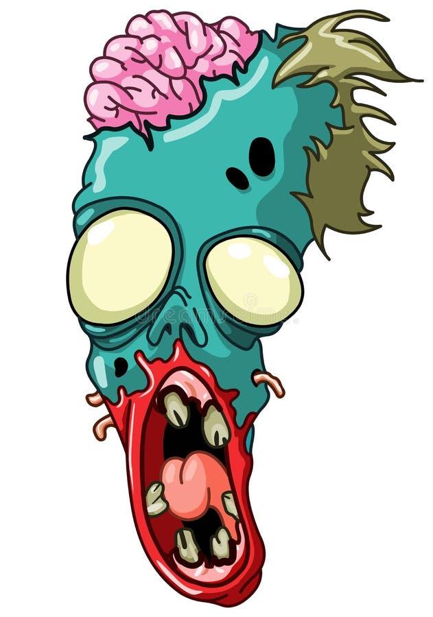 Zombiehoofd stock illustratie