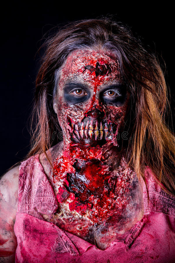 Zombiemädchen lizenzfreies stockbild