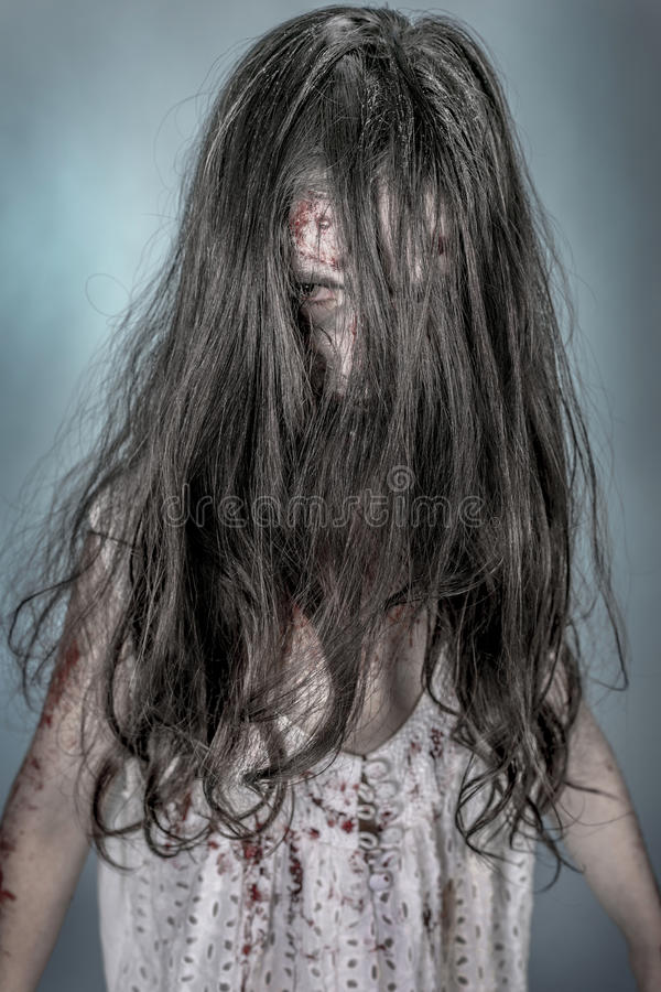 Zombiemeisje stock foto's