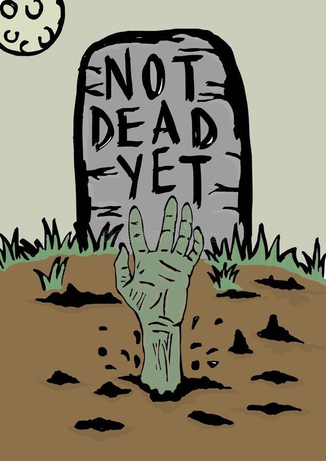 Zombienacht vector illustratie