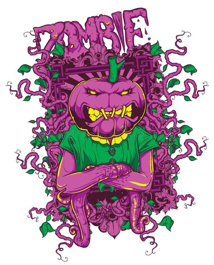 Zombiepompoen stock illustratie
