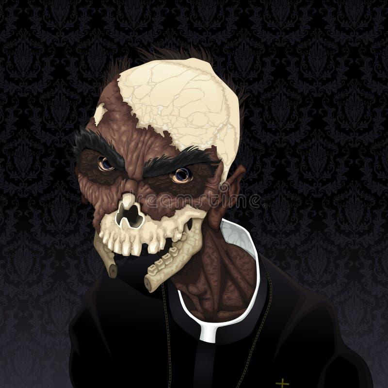 Zombieportret. stock illustratie