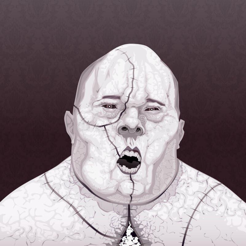 Zombieportret. royalty-vrije illustratie