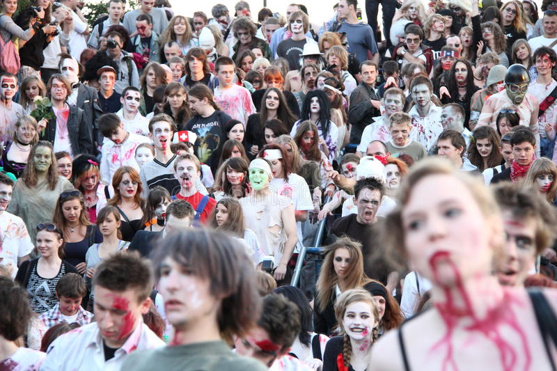 Download Zombies redaktionell bild. Bild av demonstration, person - 19782216