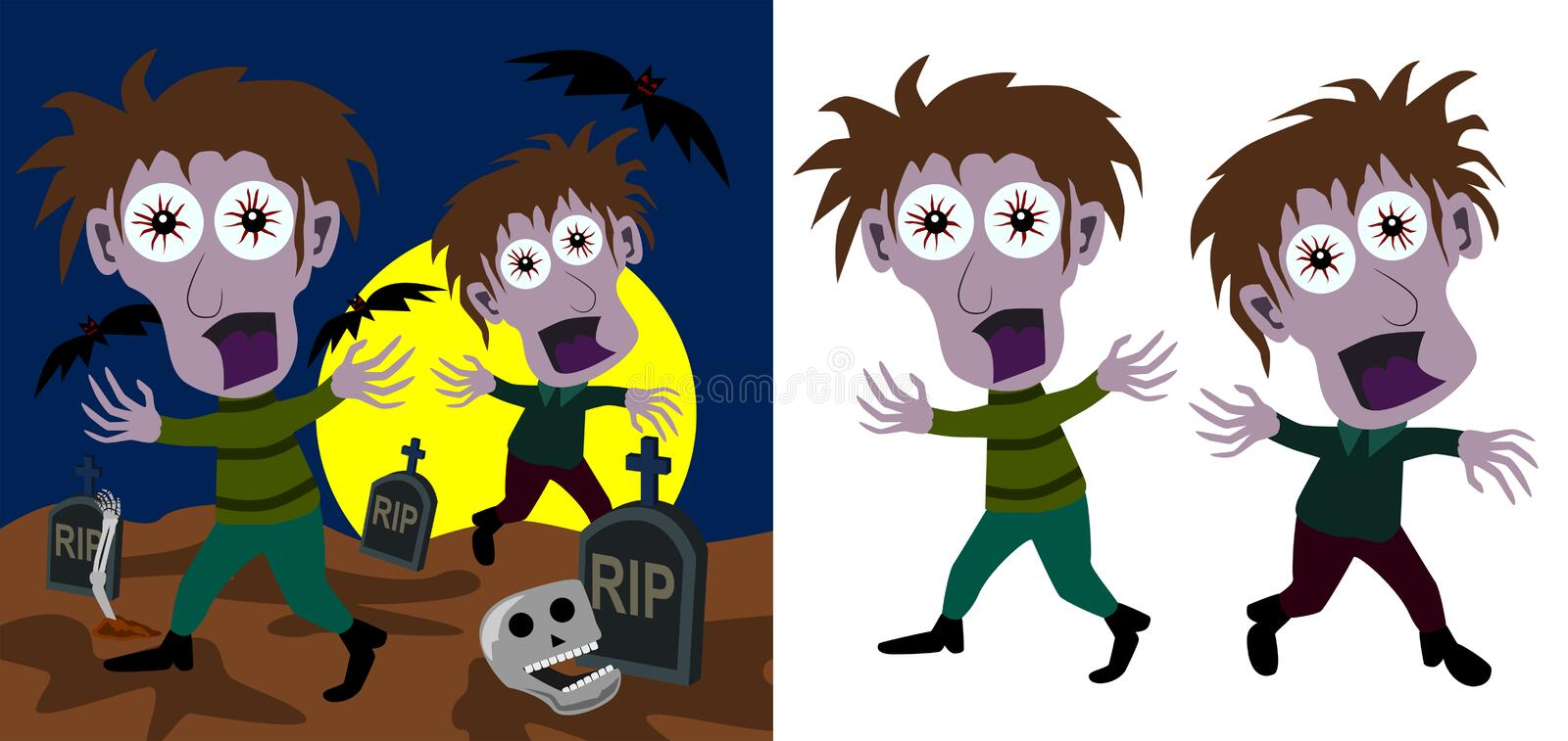 Download Zombies stock illustration. Image of halloween, zombie - 24008811