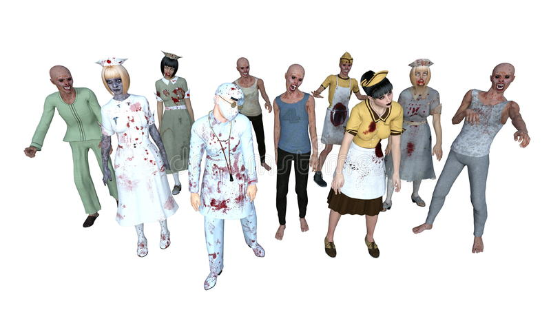 zombies royaltyfri illustrationer