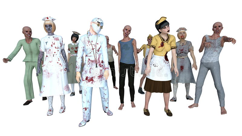 zombies royalty illustrazione gratis