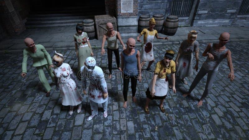 zombies royaltyfri illustrationer