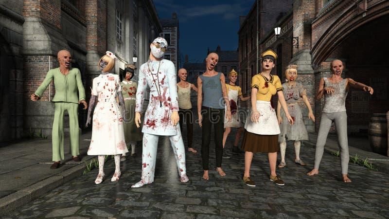 zombies vektor illustrationer
