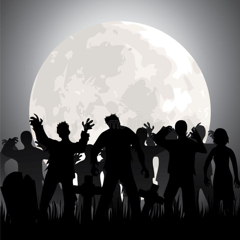 Zombies stock illustration