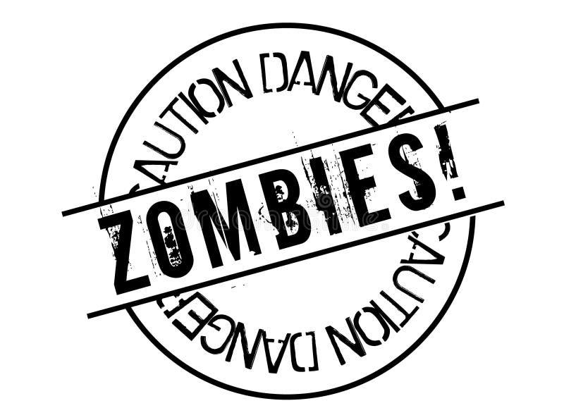 Zombies stempeln auf weißem vektor abbildung