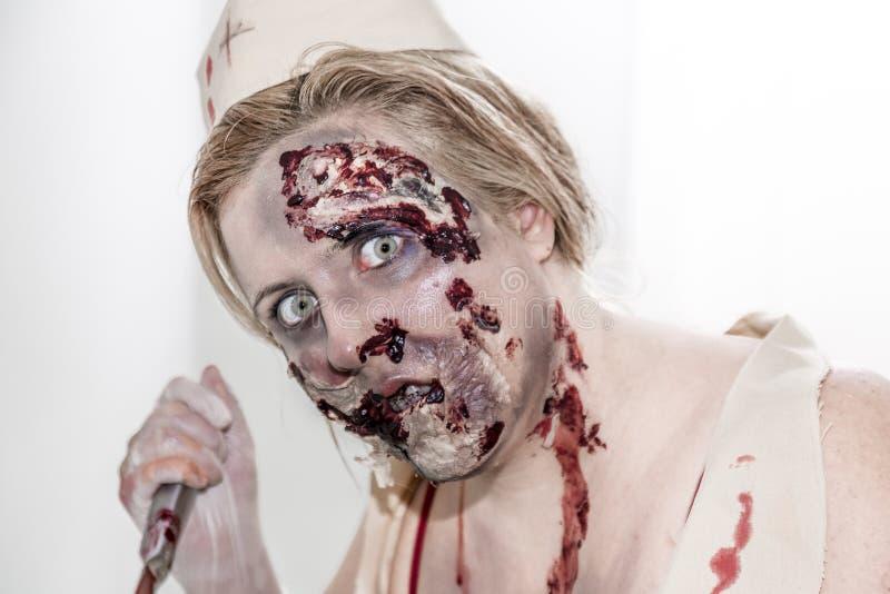 Zombiesjuksköterska royaltyfria foton