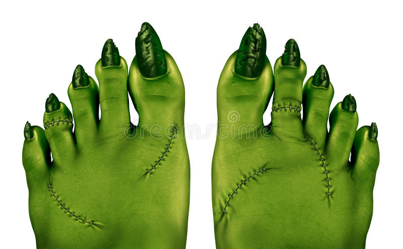 Zombievoeten royalty-vrije illustratie