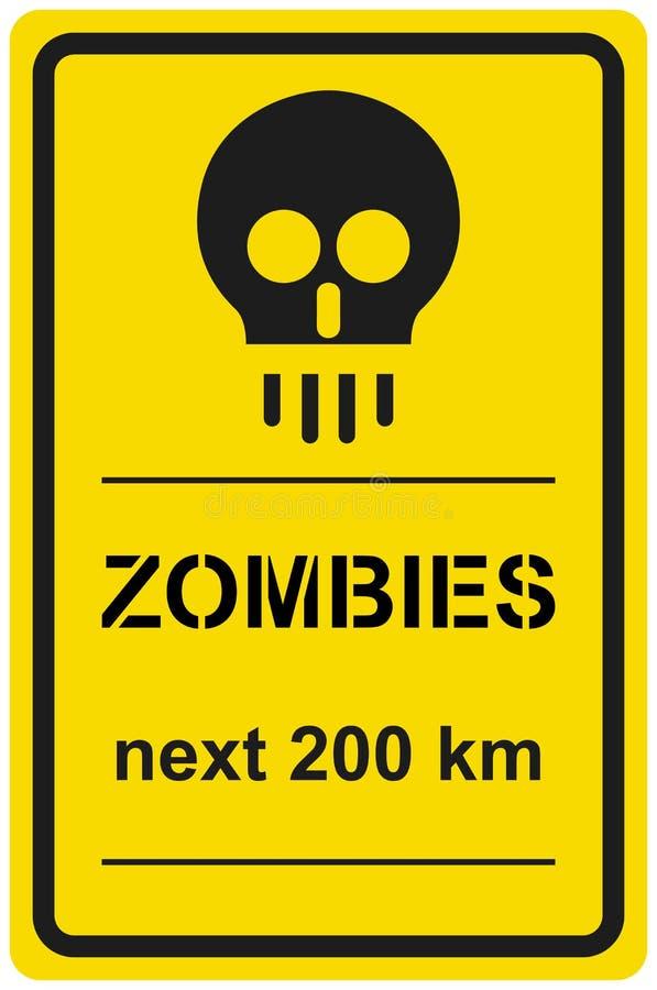 Zombis 200 Prochains Kilomètres De Signe De Vecteur Photos stock
