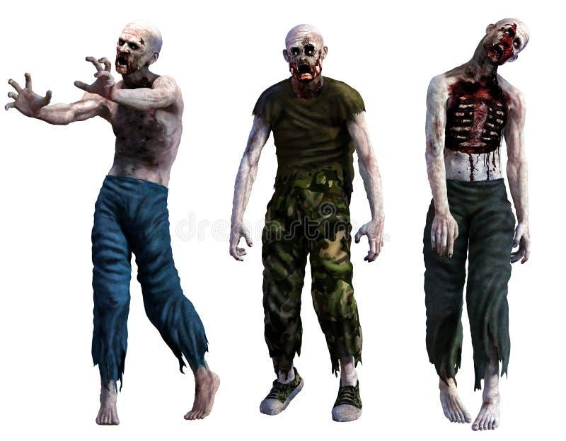 zombis stock de ilustración
