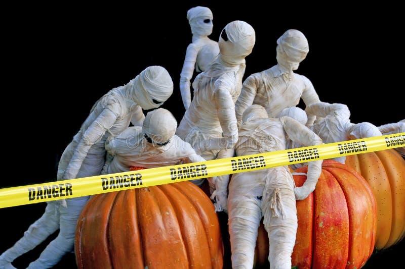 Zombis de Halloween foto de stock