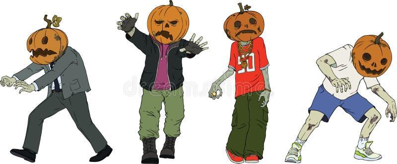 Zombis de Halloween illustration de vecteur