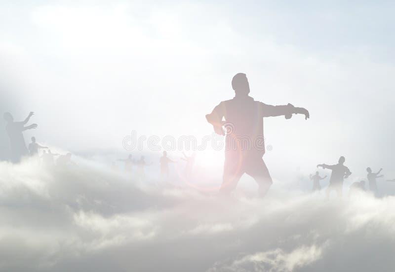 Zombis en brume illustration de vecteur