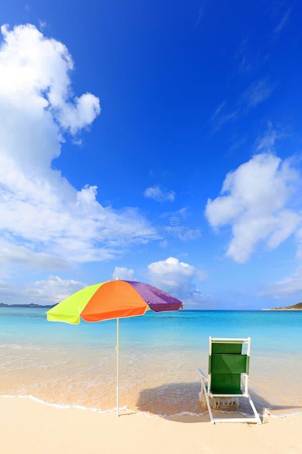 Zomer bij het strand stock fotografie