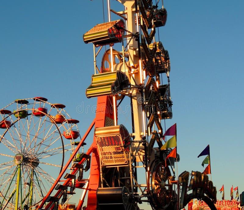 Zomer, Ferris Wheel, Zonsondergang, Eerlijke Pret, stock fotografie