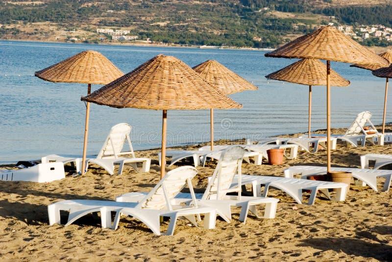 Zomer op het strand stock foto