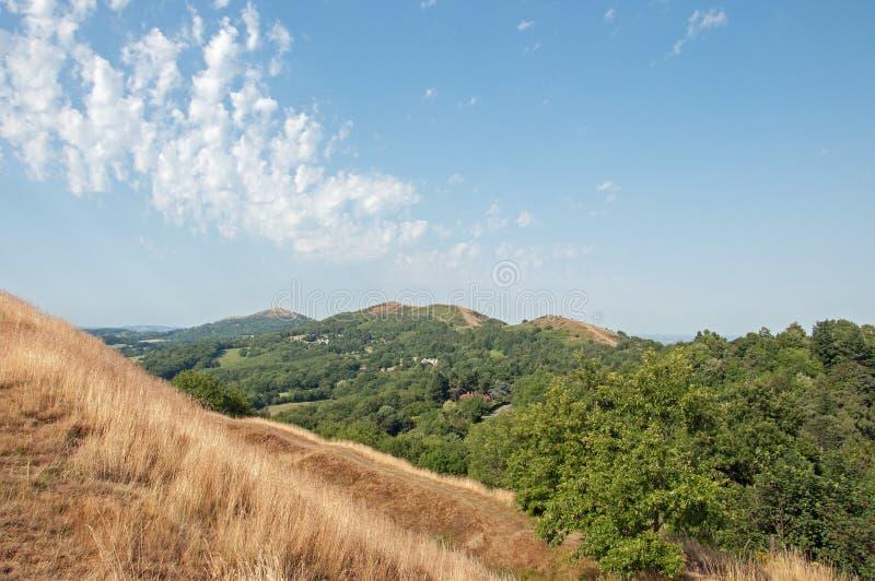 Zomerlandschap in de Malvern-heuvels stock fotografie