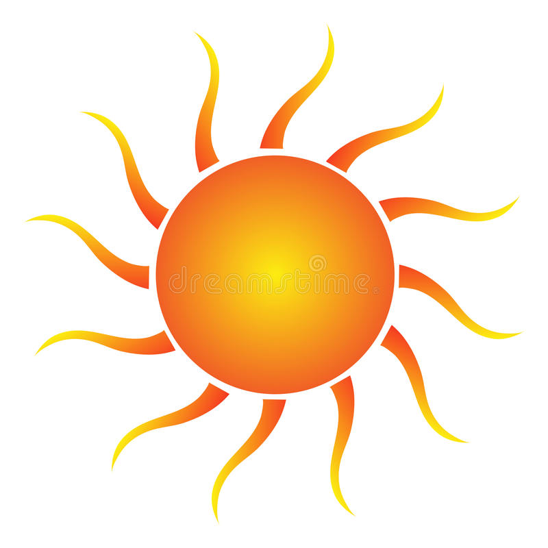 Zon vector illustratie
