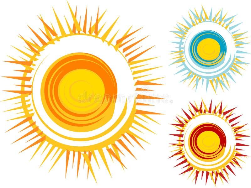 Zon vector illustratie