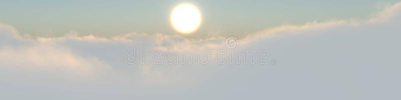 Zon boven wolken stock afbeelding