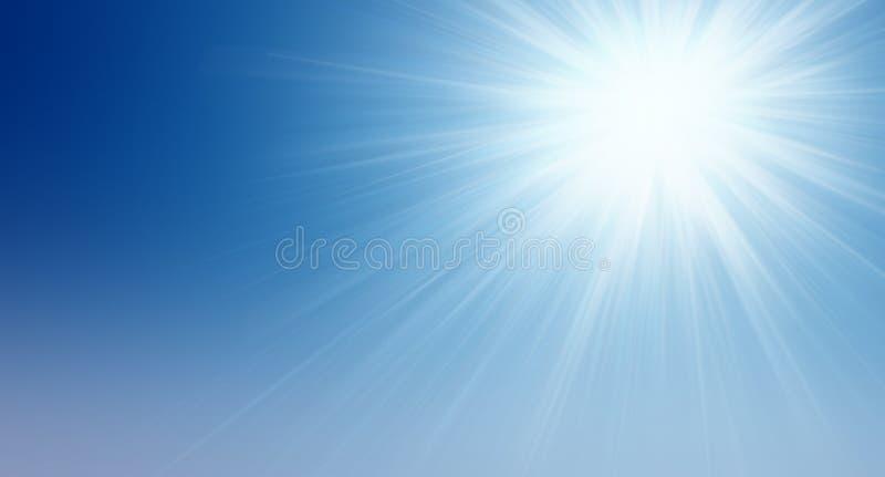 Zon in de hemel stock illustratie