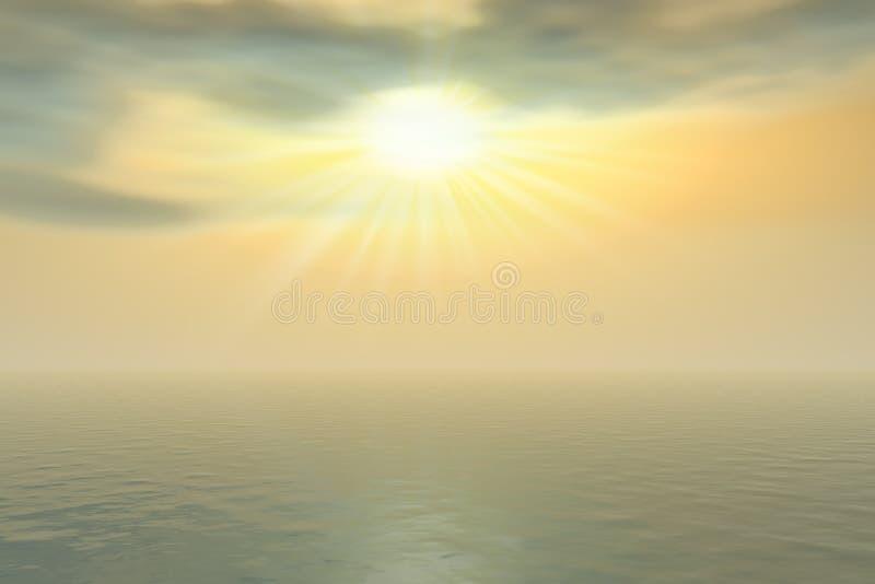 Zon in de wolken royalty-vrije illustratie