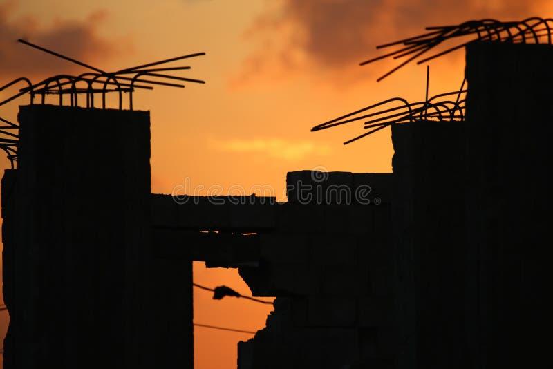 Zon die in Gaza wordt geplaatst stock afbeeldingen