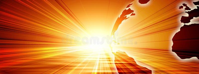 Zon en aarde royalty-vrije illustratie